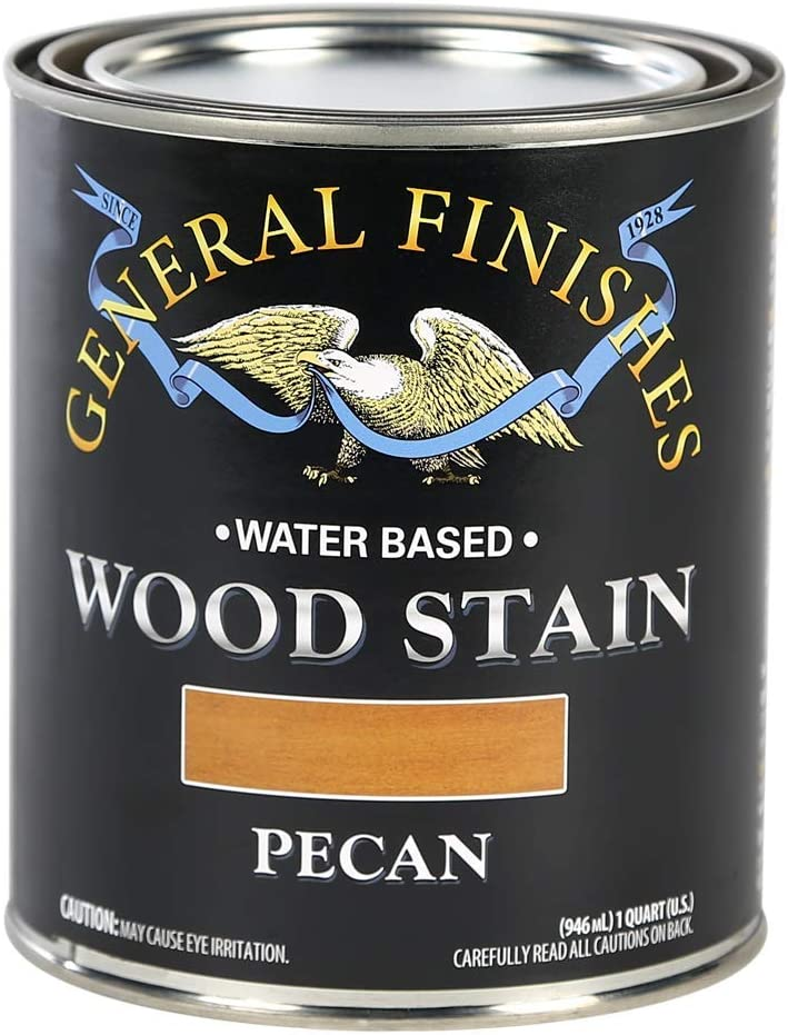 General Finishes Water Based Wood Stain, 1 Quart, Pecan