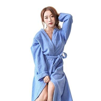 da5d19125df82 Robe de Chambre Kimono Tissage Gaufré Coton Peignoir de Bain Waffle l'hôtel  Spa Sauna Patchwork De Nuit Spa Robe de Nuit Peignoir de Bain en éponge à  ...