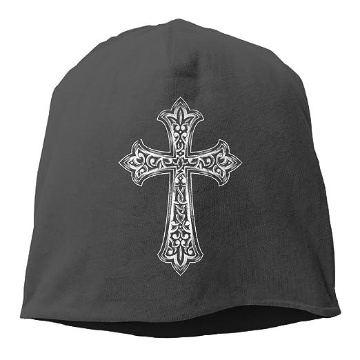 98a117ed8ca4b Christian Jesus Cross Unisex Toboggan Knit Hat Warm Hat Skull Cap. at  Amazon Men s Clothing store