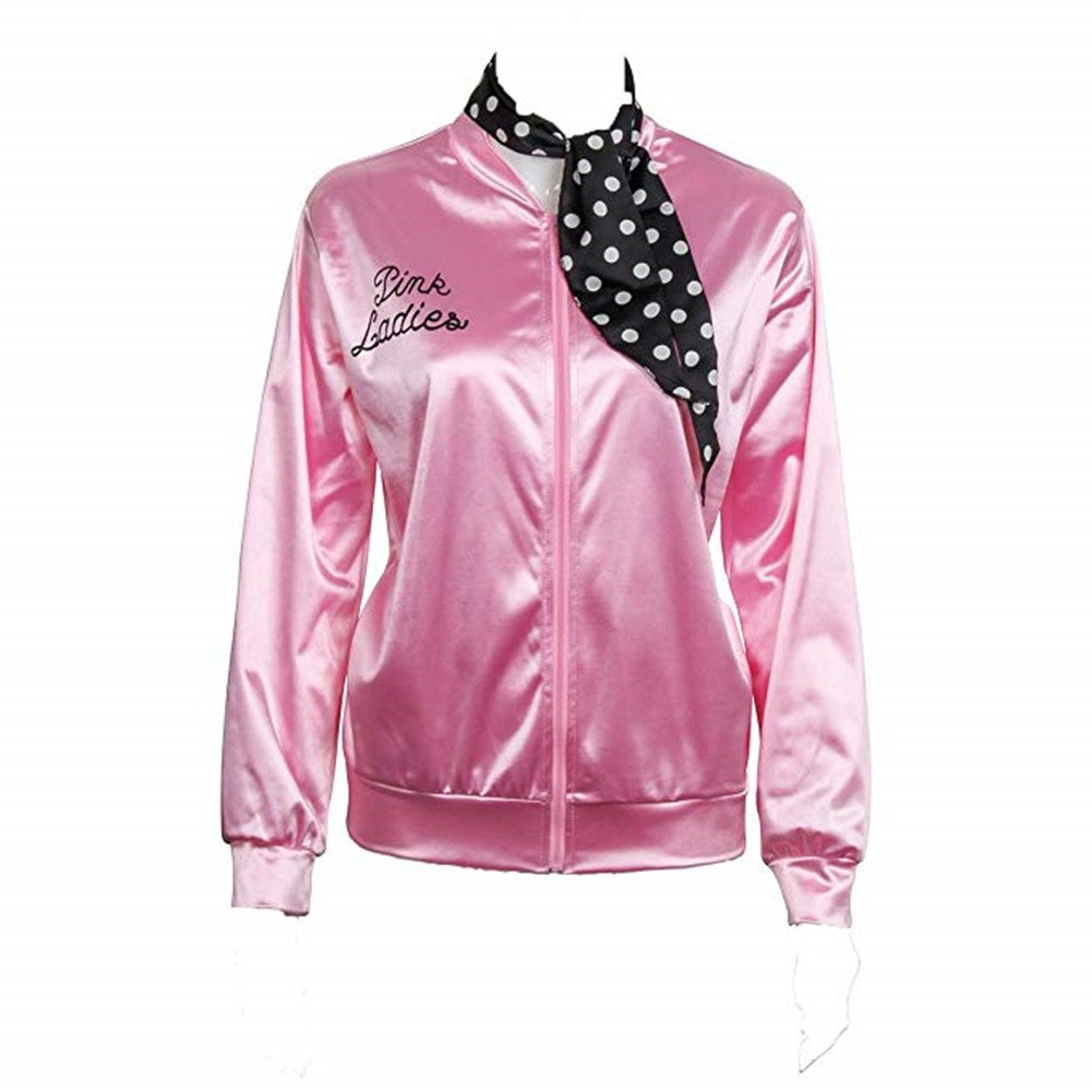 4ebc94f246e A traditional jacket for the pink satin ladies club. Perfect for Hen  Parties or Pink Themed Night This pink Grease-inspired Ladies Jacket comes  with a ...