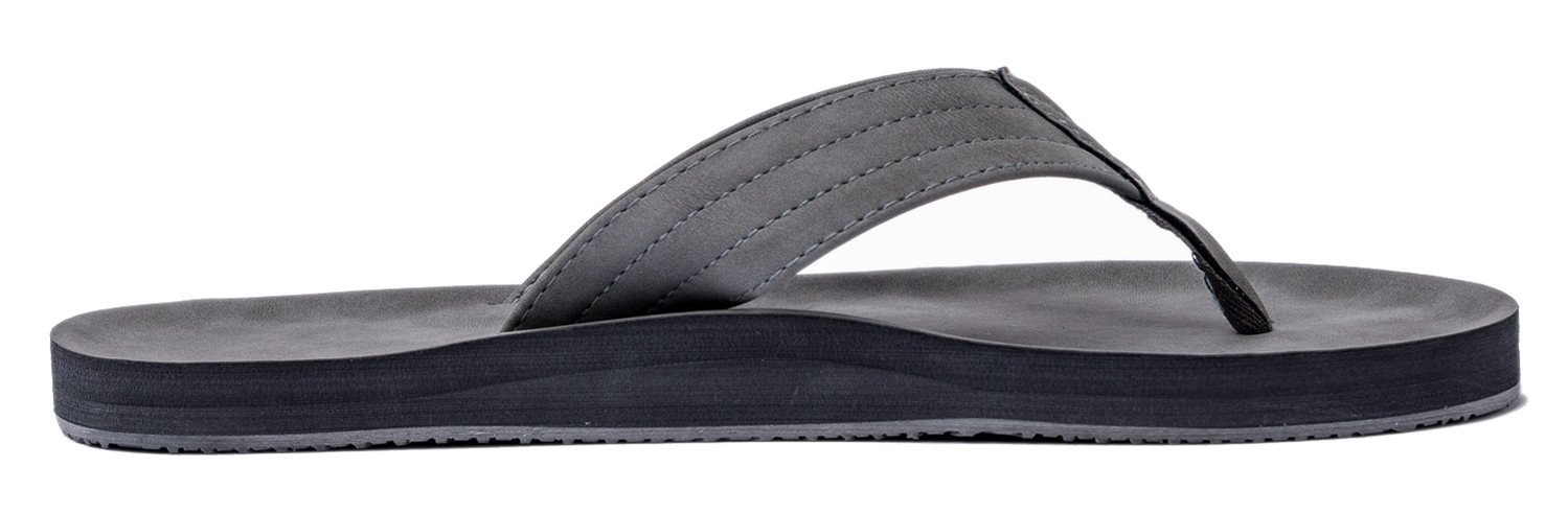 venustus Men\'s Flip Flops Summer Beach Sandals Extra Large Size Arch Support Slippers Size 13 US Grey