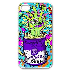 iPhone 4/4s Case Zombie, Iphone 4 S Case Special, {White} 6229388337261