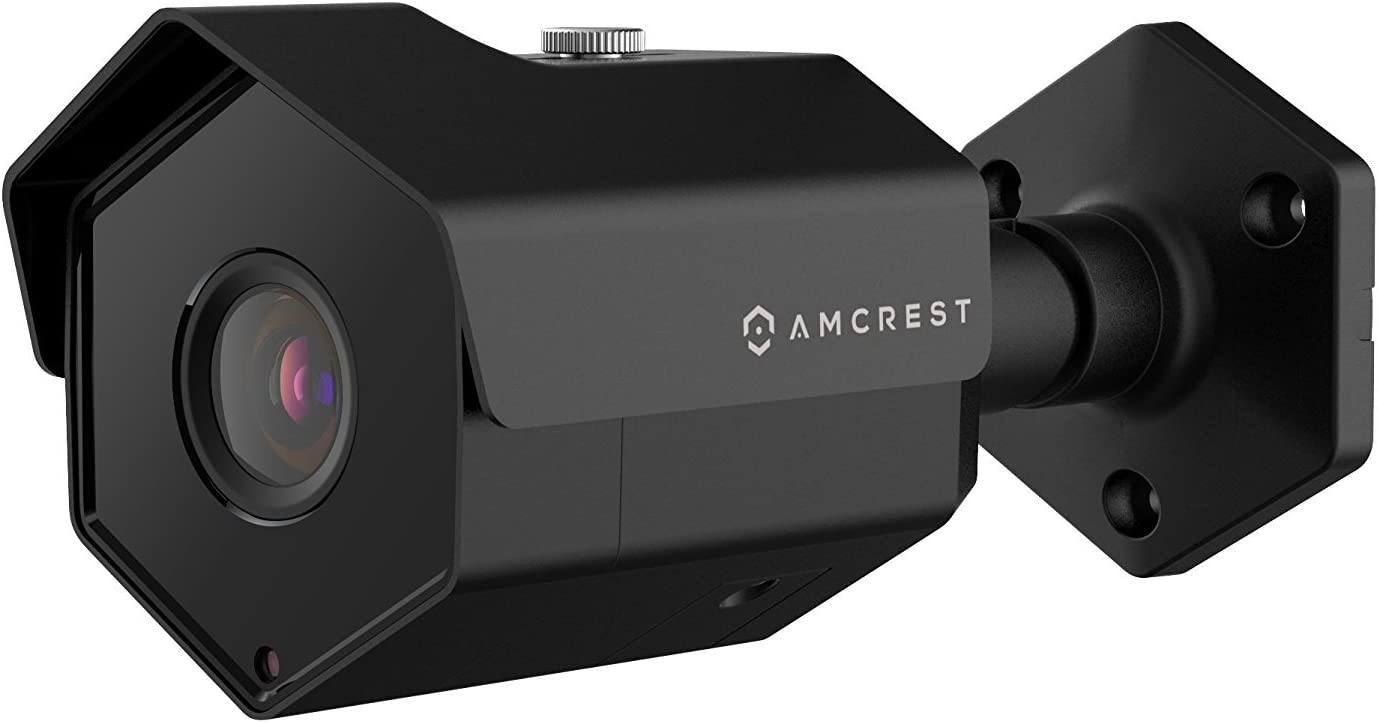 Amcrest UltraHD 5MP Outdoor POE Camera 2592 x 1944p Bullet IP Security Camera, Outdoor IP67 Waterproof, 104 Viewing Angle, MicroSD Recording, 98ft Night Vision, 5-Megapixel, IP5M-1173EB Black