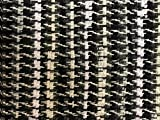White & Black Hand Woven Hand Loomed Rug made by Amish