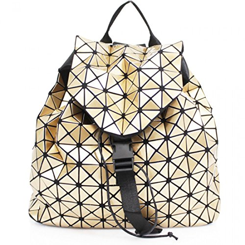 School Fancy Cube Ladies Prism Back Packs New Triangle Party Gold Travel Girls Geometric Design AqvWBw