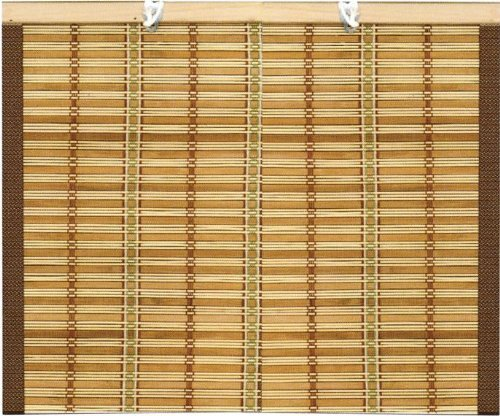 Awning Blinds wicker 1,2x2,5H meters with rope edge and cotton P & B