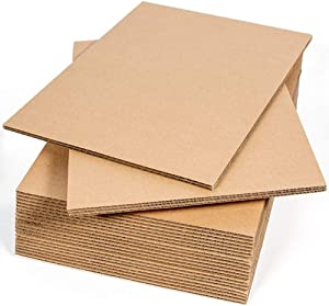 Sodaxx Corrugated Cardboard Sheets (Qty 25) 8.5 x 11 Inches Kraft Brown Flat Cardboard Sheets, Paper Cardboard Inserts for Packing, Mailing, Crafts, Letter Size 8.5 x 11 Inches
