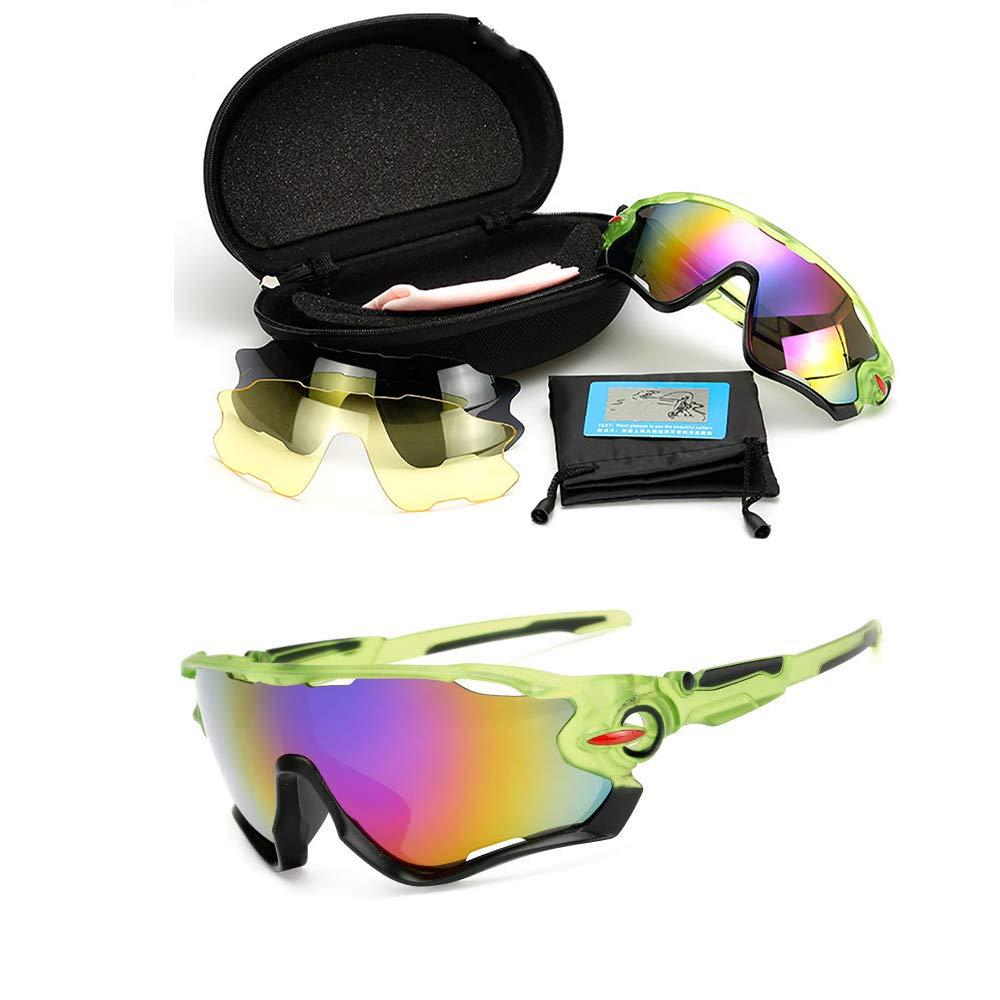 YUEFEI Gafas De Sol Deportivas UV 400 Protecci/ón Gafas Deportivas Polarizadas con 3 Set De Lentes Intercambiables para Hombre Mujer