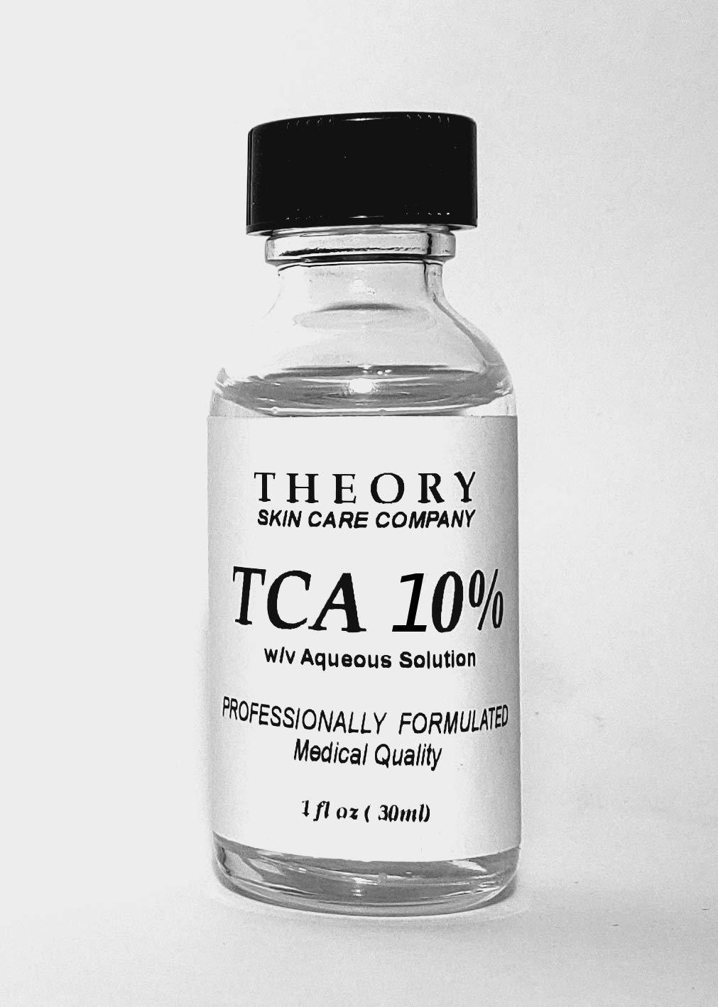 Trichloroacetic Acid 10% TCA Chemical Peel, 1 oz, Medical Grade, Wrinkles, Fine Lines, Freckles, Scars, Age spots