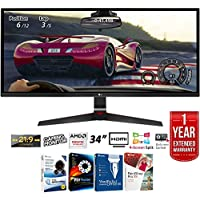 LG 34UM69G-B 34 21:9 UltraWide IPS Gaming Monitor 2560 x 1080 with FreeSync + Elite Suite 17 Standard Software Bundle (Corel WordPerfect, Winzip, PDF Fusion,X9) + 1 Year Extended Warranty