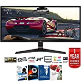 LG 34UM69G-B 34' 21:9 UltraWide IPS Gaming Monitor 2560 x 1080 with FreeSync + Elite Suite 17 Standard Software Bundle (Corel WordPerfect, Winzip, PDF Fusion,X9) + 1 Year Extended Warranty
