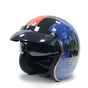 MATEROP Casco de la Bici de la Vespa de Casco Moto Jet del Casco de la