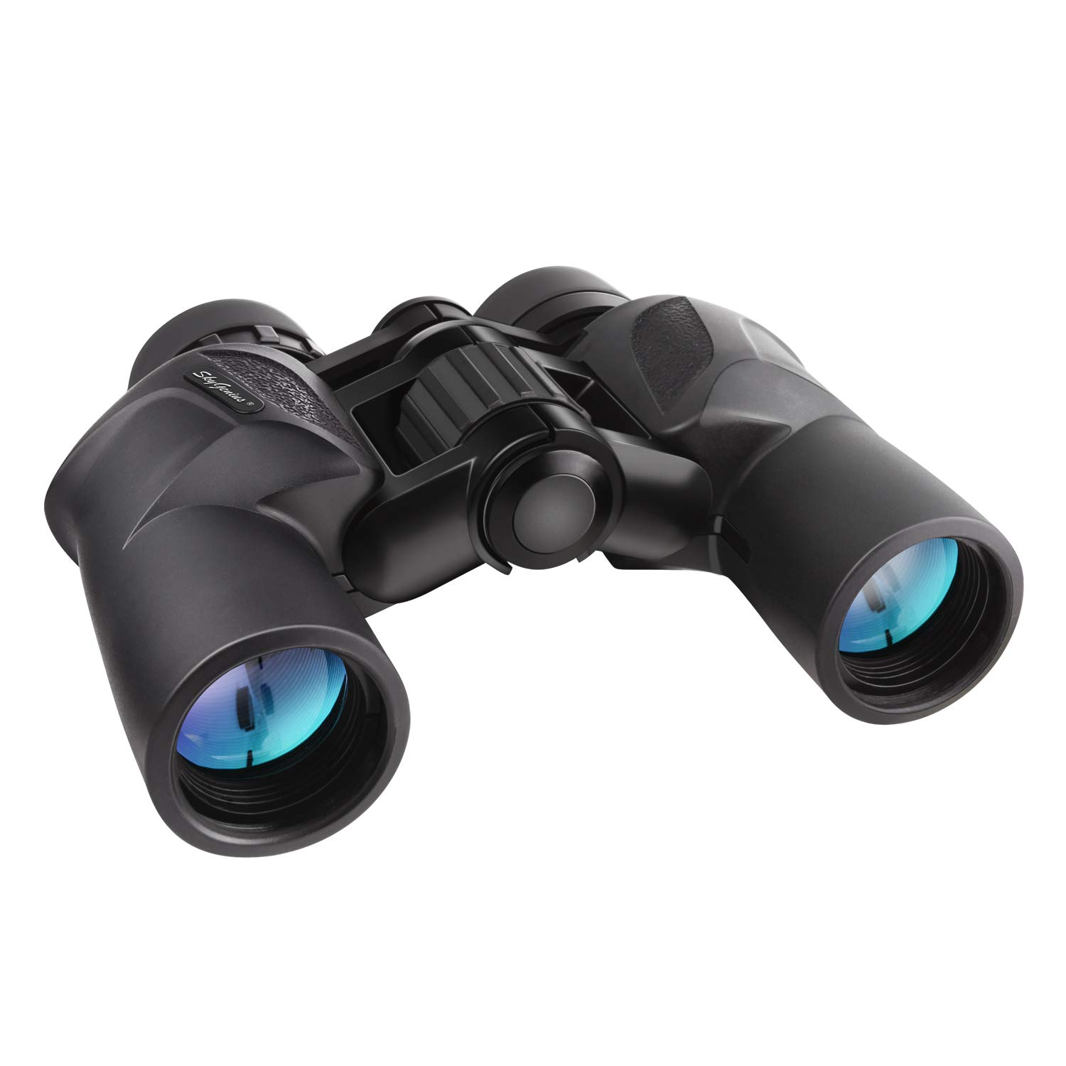 7x30 HD Quality Binoculars (BAK4, Green Lens). Compact Portable Foldling Bird Binoculars for Adults Kids Hunting Travelling Sightseeing Concert Opera with Low Light Night Vision by SkyGenius