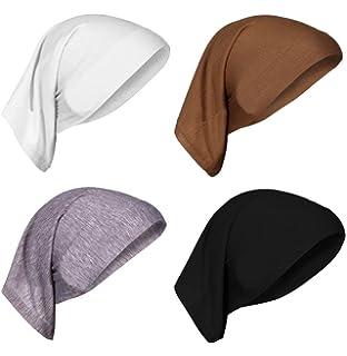 10c15690c112f AIYUE 4 Pcs Chemo Beanie Headscarf Headwear Chemo Hat Beanie Scarf Head Wrap  Sleep Turban for