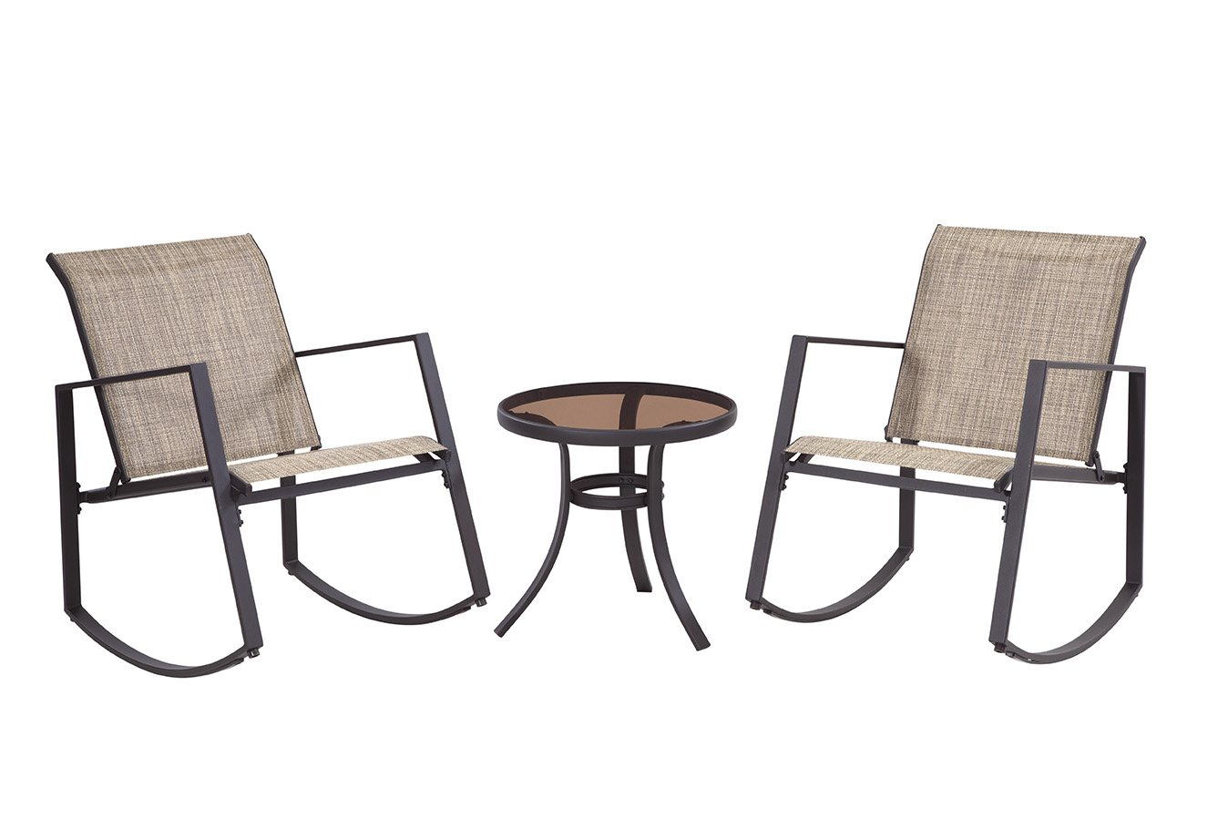 Liberty Garden Patio SS-K-601-1ERC-3BN Aurora 3-Piece Sling Seating Set, Brown