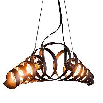 KJLARS Lámpara LED Lámpara de Techo Vintage Colgante de Luces E27 ...