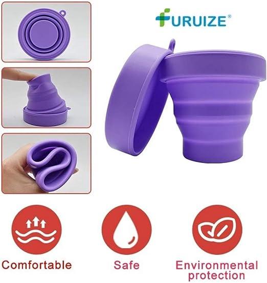 Copa Menstrual Furuize con Taza de Esterilización. Silicona suave de grado médico 100%. Previene infecciones y fortalece el suelo pélvico. Alternativa ...