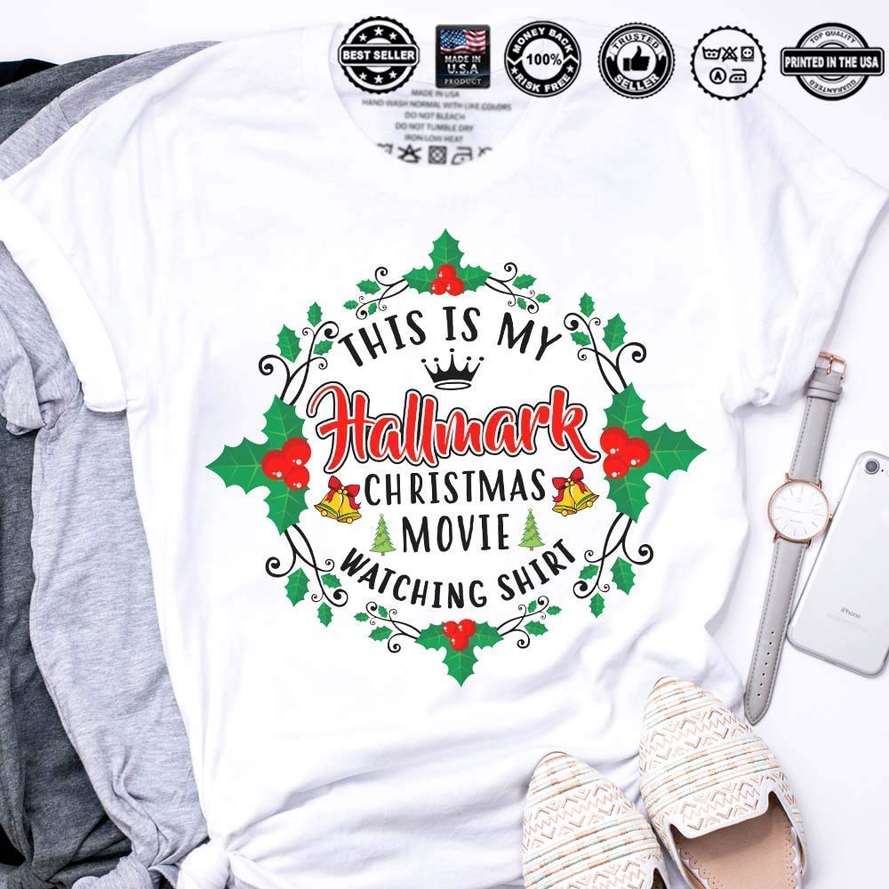9d68176ef7 Amazon.com  This Is My Hallmark Christmas Movie Watching Shirt  Handmade