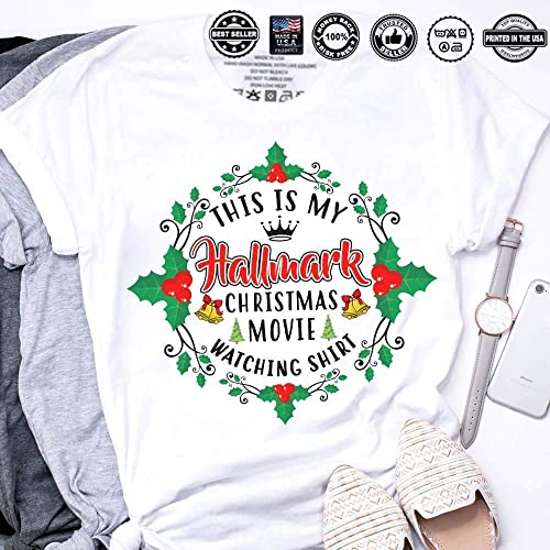 a2fd1d211e3b4 Amazon.com  This Is My Hallmark Christmas Movie Watching Shirt  Handmade