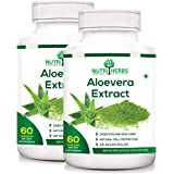 Nutriherbs 100% Natural & Organic Aleovera Extract 800 Mg 60 Capsules (Pack Of 2)