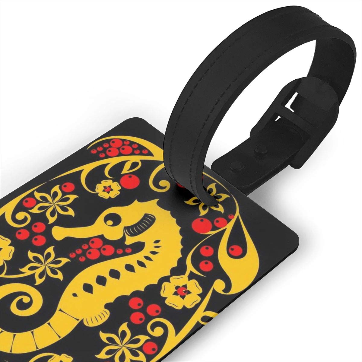 2 Pack Luggage Tags Sea Horse Handbag Tag For Travel Tags Accessories