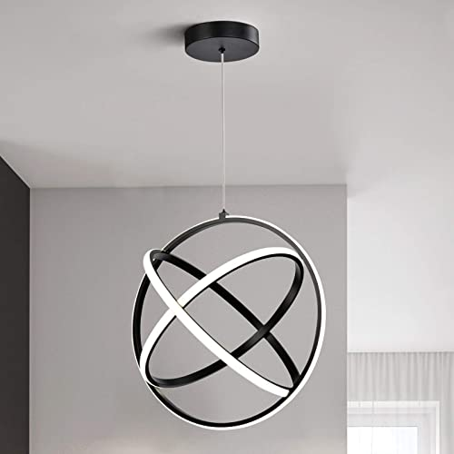 Maxax LED Chandelier Circular Pendant Ceiling Lighting 3 Tubes Lighting Fixture