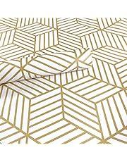 Meboom Champagne Goud Gestripte Peel Stick Behang Zeshoek Goud Strepen Zelfklevend Papier Vinyl Film Plank Lade Liner Roll 45cm bij 250cm