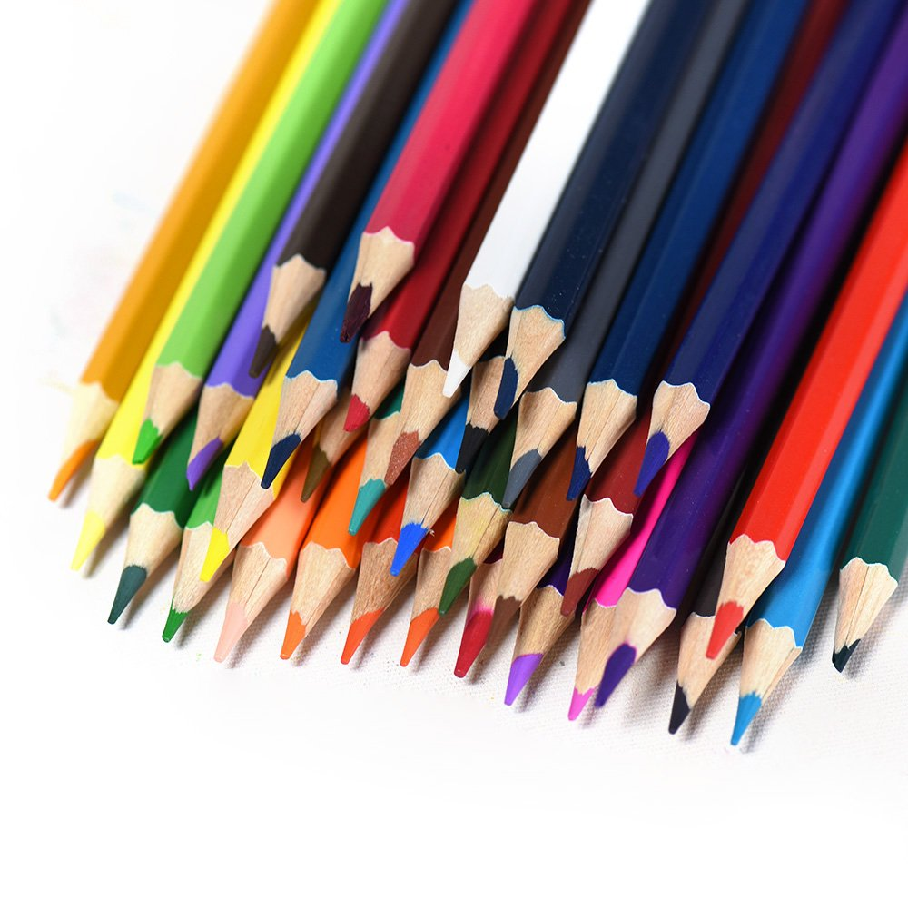 Colored Pencils Drawing Set for Adult Kids Coloring Books 36 Assorted Colors with Case
