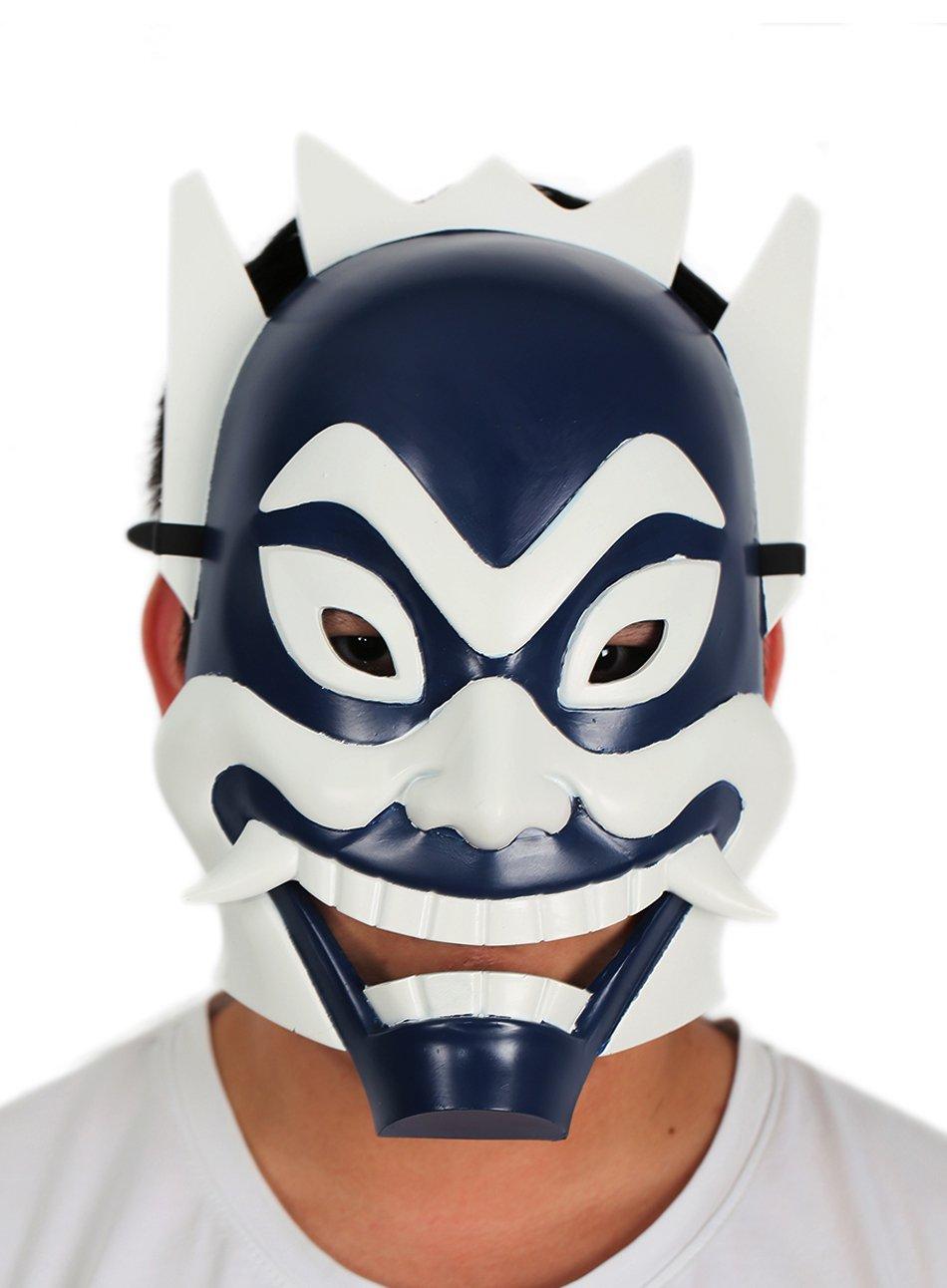 xcoser Zukos Blue Spirit Mask Deluxe Adult Cosplay Blue White Mask