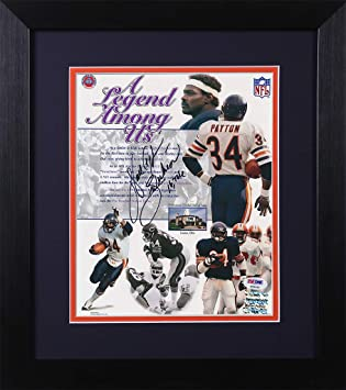 f073215c3f6 Walter Payton Autographed Bears Photo - Beautifully Matted and Framed -  Hand Signed By Walter Payton