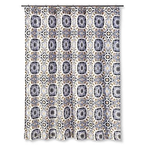 Ecom Shower Curtain Mudhut Tribal Design Multi Colored