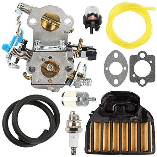 Hilom Carburetor With 537255701 Air Filter Tune Up Kit For Husqvarna 455 455C 455E 460 461 Rancher Chainsaw Carb Jonsered Cs2255 Replace 544883001 544 22 74 01 544 88 30 01 For Walbro Wta 29