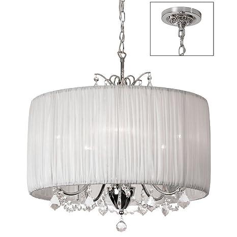 Amazon.com: Lámpara colgante de cristal en forma de cilindro ...