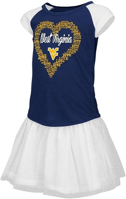 Colosseum Toddler West Virginia Mountaineers Girls Blue Pom Pom Cheer Set