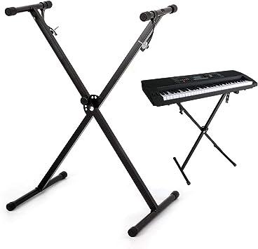 MultiWare Soporte para teclado de piano electrónico con soporte único para teclados y pianos digitales de 54 a 61 teclas