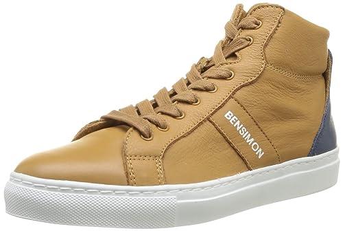 Bensimon Sneackys - Zapatillas de piel de cerdo para mujer, color beige, talla 36: Amazon.es: Zapatos y complementos