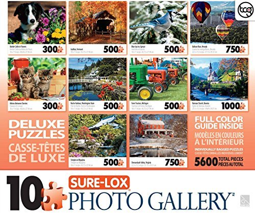1000 Piece Photo Jigsaw - Sure-Lox Photo Gallery 10 Jigsaw Puzzle Pack