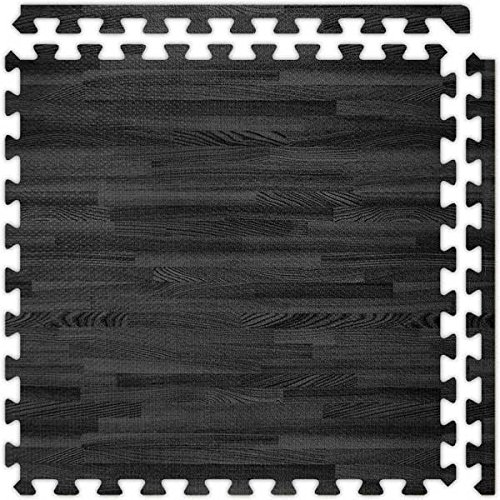 SoftWood Flooring, 10'x10' Floor, Black, 5/8