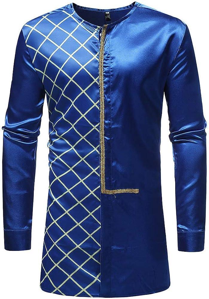Blusa Superior de Dashiki de la Camisa de Dashiki de la impresión Africana del otoño Invierno de los Hombres por Internet.: Amazon.es: Ropa y accesorios