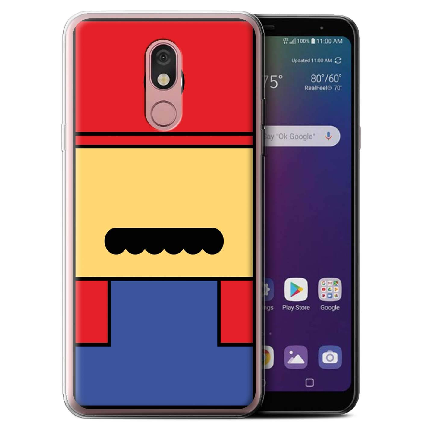 eSwish Gel TPU Phone Case/Cover for LG Stylo 5 / Mario Inspired Design/Retro Gaming Characters Collection