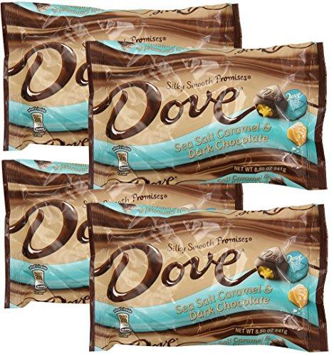 Dove Silky Smooth Sea Salt Caramel Dark Chocolate 8.5oz (pack of 4 ()