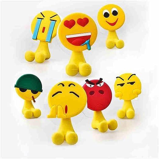 Soporte para cepillos de dientes de pared Yeshi Cute Cartoon Emoji expresión sucktion vaso para cepillos de dientes soporte de pared baño accesorio de ...