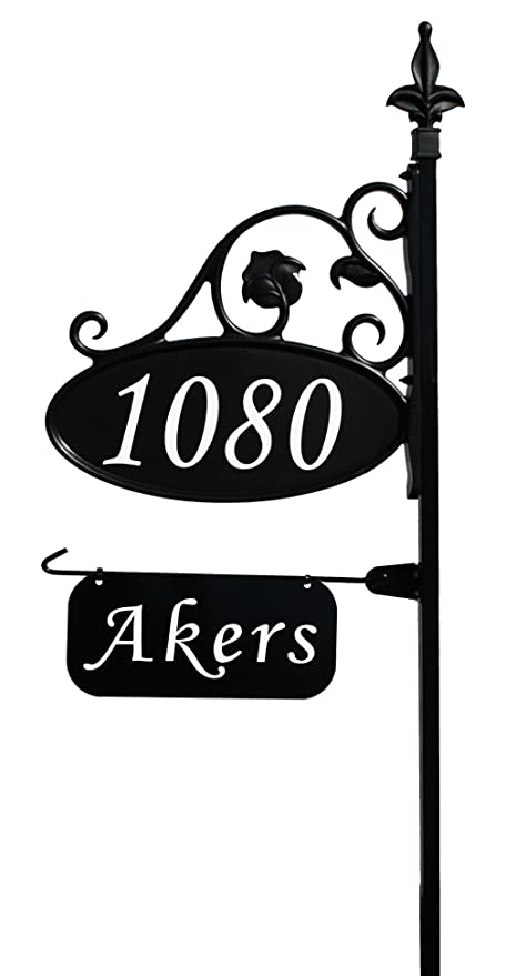 Amazon.com : Park Place Oval Reflective 911 Home Address Sign for ...