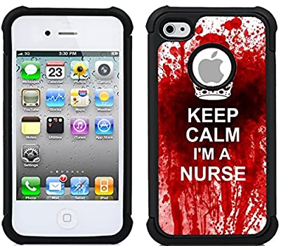 CorpCase iPhone 4 Case / iPhone 4S Case - Keep calm im nurse/ Hybrid Unique C... from RMS Technologies