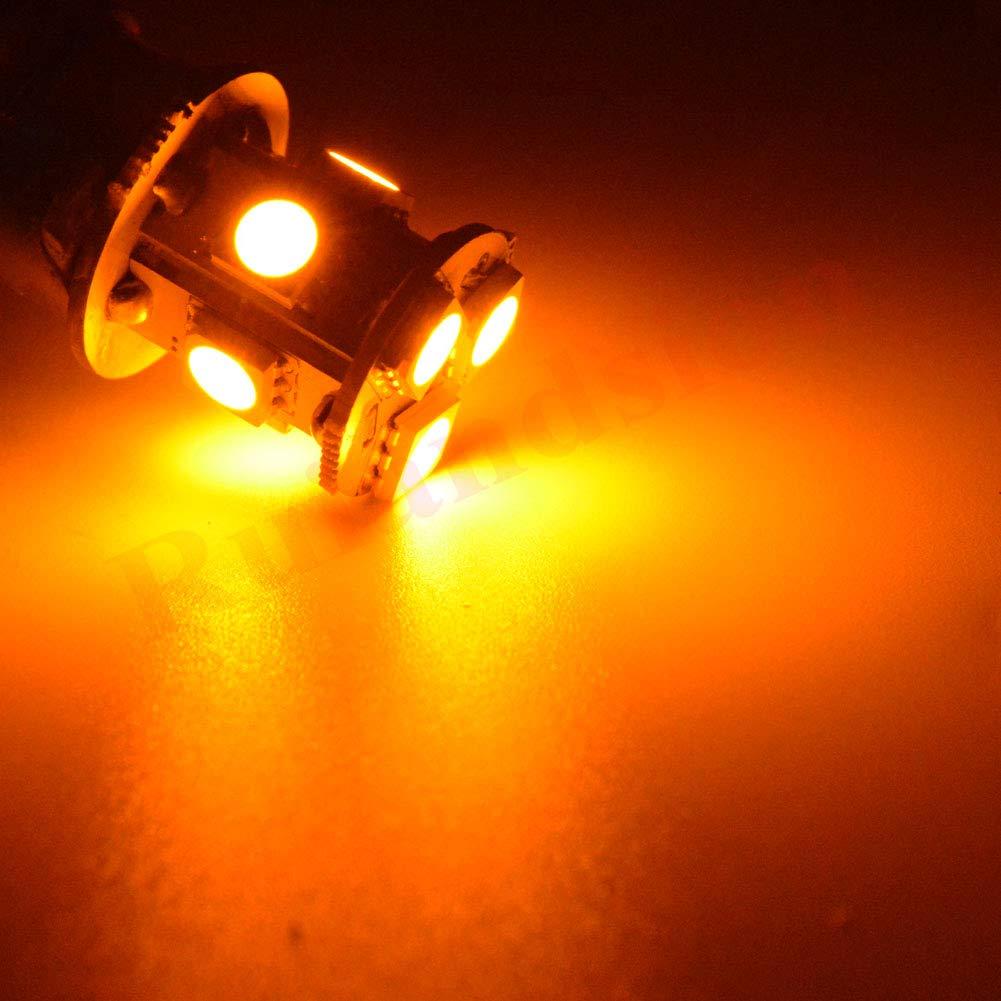 Negative Earth Guangzhou Ruixin Lighting Technology Co Ruiandsion 2pcs 1156 BA15S 5050 SMD 8 LED DC6V 160LM Amber Yellow Orange Car Bulb Stop Light,Turn Light,Reverse Light,Tail Light Lamps Ltd.