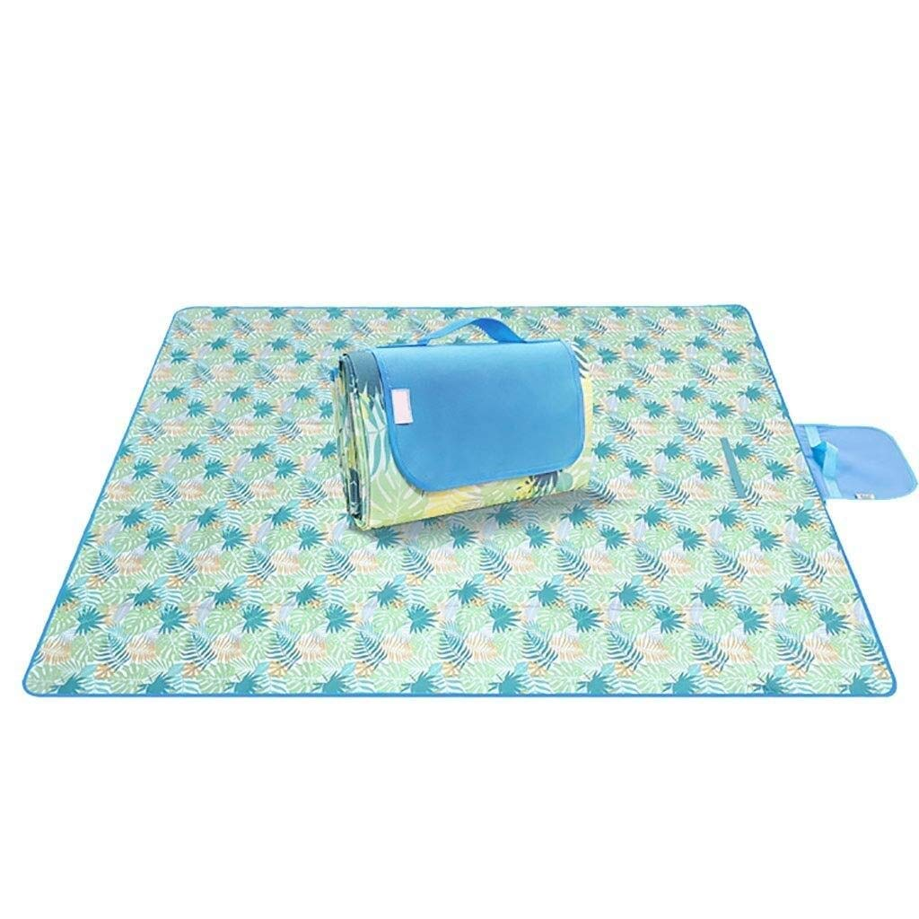 ZKKWLL Picnic Blanket Waterproof Picnic mat Outdoor Portable Folding Children's Picnic mat Thickening Moisture-Proof Waterproof Field Outing mat Beach mat (Color : A) by ZKKWLL