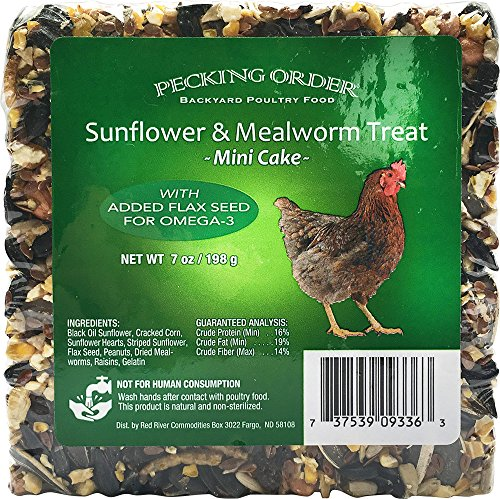 Pecking Order Mealworm & Sunflower Cake, 7 oz