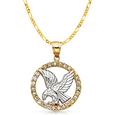 14K Yellow Gold Baptism Charm Pendant with 1.8mm Singapore Chain Necklace