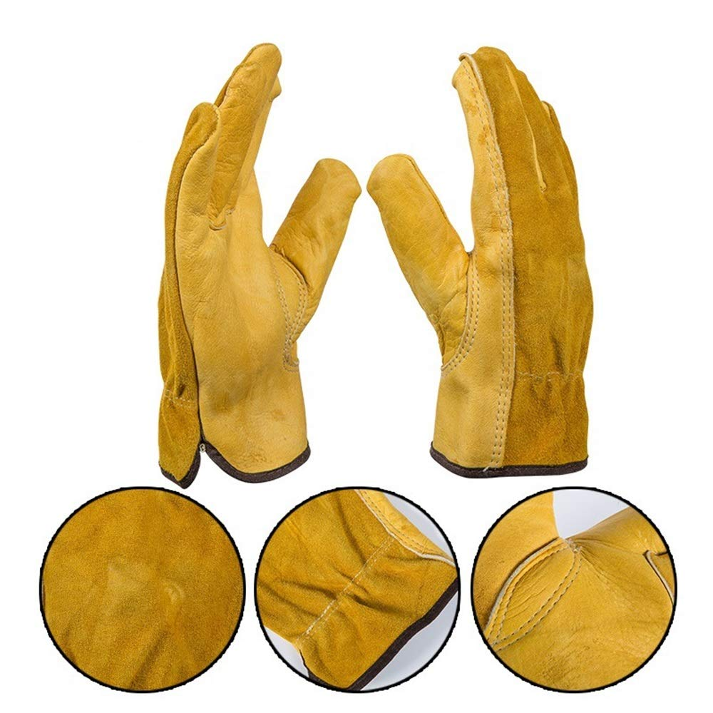 Easy to Assemble 1Pair Leather Garden Gloves Working Protection Gloves Security Garden Labor Gloves Wear Safety Tools (Color : L) by Tuersuer (Image #7)