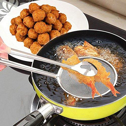 Gilroy alimentos skimmer colador cuchara con clip Cocina de acero inoxidable herramientas